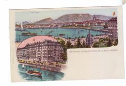 GENEVE Vue Depuis Le Grand Hotel Chromos A Trub - GE Geneva
