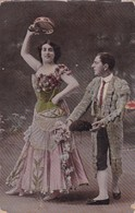 SANS DESCRIPTION. DANZA TIPICA PANDERETA ESPAÑOLA. FOLK FOLKORE COSTUMES. ED Z FUMAGALLI. CIRCA 1900s- BLEUP - Danses