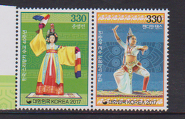 SOUTH KOREA, 2017, MNH, JOINT ISSUE WITH SRI LANKA, COSTUMES, DANCES,  2v - Joint Issues