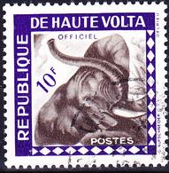 Obervolta Upper Haute - Afrikanischer Elefant (Loxodonta Africana) (Mi.Nr.: DM 3) 1963 - Gest Used Obl Dienste7service - Haute-Volta (1958-1984)