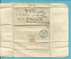 "Brief Vanuit BRAINE-LE-COMTE Met Stempel BRUXELLES Op 21/12/1845 Met Stempel CA + ""C""!!!! - 1830-1849 (Belgique Indépendante)"