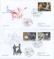 SAN MARINO - FDC VENETIA  2004 - UNIONE LATINA - VIAGGIATE - FDC