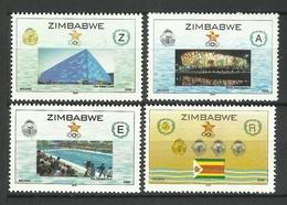 ZIMBABWE 2008 BEIJING OLYMPIC GAMES SET MNH - Zimbabwe (1980-...)