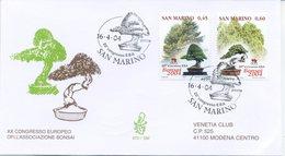 SAN MARINO - FDC VENETIA  2004 - BONSAI  - VIAGGIATA - FDC