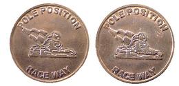 04147 GETTONE TOKEN JETON ARCADE GAMING MACHINE POLE POSITION RACE WAY - Verenigde Staten