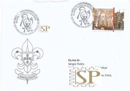 Portugal 2014 Carimbo Comemorativo Mostra Filatélica Escutista Scout Escuteiros Santiago Do Cacém Rota Das Catedrais - Marcophilie