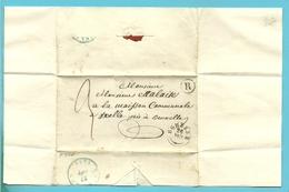 """Brief Stempel EGHEZEE (type 18) Met Busstempel (rurale) """" R """"  Naar BRUXELLES 26/8/1945 - 1830-1849 (Belgique Indépendante)"""