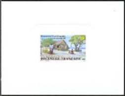 FRENCH POLYNESIA (1989) Copra Industry. Deluxe Sheet. Scott No 506, Yvert No 327. Fascinating! - Geschnitten, Drukprobe Und Abarten