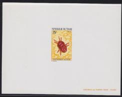 CHAD (1974) Red Velvet Mite. Deluxe Sheet. Scott No 295, Yvert No 291. - Ciad (1960-...)