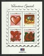 ZIMBABWE 2008 VALENTINE'S DAY SHEET  MNH - Zimbabwe (1980-...)