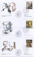 SAN MARINO - FDC VENETIA  2004 - PETRARCA - WILDE - CECHOV - VIAGGIATE - FDC