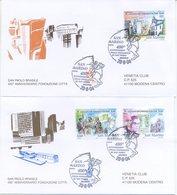 SAN MARINO - FDC VENETIA  2004 - SAN PAOLO - BRASILE - VIAGGIATE - FDC