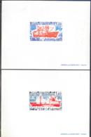 F.S.A.T. (1977) Ships: Magga Dan. Thala Dan. Penguins. Set Of 2 Deluxe Sheets. Scott Nos 74-5. Yvert Now 66-7. - Imperforates, Proofs & Errors