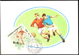 HUNGARY (1953) Wembley Soccer Cup Overprinted With Hungary's Winning Score. Maximum Card. Scott No C128 - Soccer