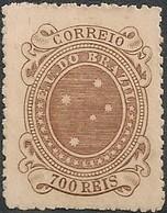 """BRAZIL - """"CRUZEIRO"""", 1st ISSUE OF THE REPUBLIC (700 RÉIS) 1894 - NEW NO GUM - Ongebruikt"""
