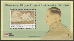 Mikronesien 1991 NIPPON '91: Farbholzschnitt Block 10 Postfrisch (C74172) - Micronésie