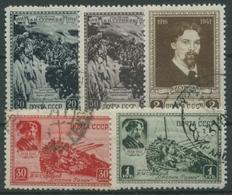 Sowjetunion 1941 25. Todestag Des Malers Wassilij Surikow 814/18 Gestempelt - Used Stamps