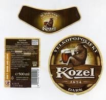 Etiquettes Bouteille Bière Tchèque - Kozel Velkopopovicky - Czech Beer Labels - Birra Birrë Alus Pivo Bier Cerveza Pivo - Bière