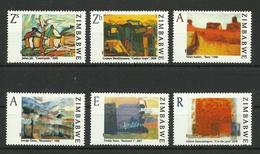 ZIMBABWE 2009 CONTEMPORARY PAINTINGS SET MNH(See Scan) - Zimbabwe (1980-...)
