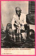 Kingston Beautiful Washerwoman - Femme - Belle Laveuse - Animée - O. MILKE - Antilles