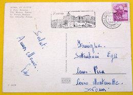 Italia 1963 Storia Postale PT Ufficio Mobile Piazza Pio XII Roma Democratica Lire 15 Su Cartolina Roma - 1961-70: Storia Postale