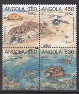 1992 Angola Marine Environment Turtles  Complete Set Of 3  MNH - Angola