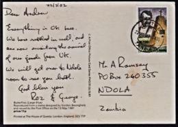 Ca0221 ZAMBIA 2014, Surcharged David Livingstone Stamp On Kitwe Card To Ndola - Zambie (1965-...)