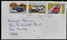 Cb0028 ZAMBIA 2010, Car Stamps (rarely Seen Used) On Luanshya Cover To Ndola - Zambia (1965-...)