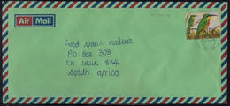 Cb0104 ZAMBIA 2003, Bird Stamp On Mbala Cover To South Africa, Kasama Backstamp - Zambia (1965-...)