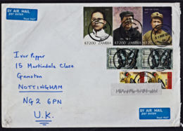 Ce0025 ZAMBIA 2010, Mao Tse Tung, Butterflies & Dancers Stamps On Itawa Cover To UK - Zambia (1965-...)