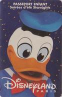 DISNEY DISNEYLAND PARIS - DONALD DUCK - Passeport Enfants ** Starnights ** - Disney