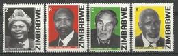 ZIMBABWE 2007  HEROES SET  MNH - Zimbabwe (1980-...)