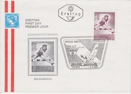 SPORT ATHLETICS ATHLÉTISME DIE LEICHTATHLETIK - AUSTRIA 1970 FDC Hurdler  Mi 1348  YT 1177 - Athletics