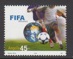 2004 Angola FIFA Football Complete Set Of 1 MNH - Angola