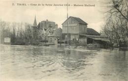 TRIEL SUR SEINE CRUE DE SEINE 1910 MAISON MALLARD - Triel Sur Seine