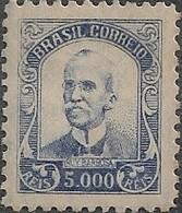 """BRAZIL - DEFINITIVES """"VOVÓ"""" (5000 RÉIS, VIOLET BLUE, RUY BARBOSA) 1938 - MNH - Brazil"""