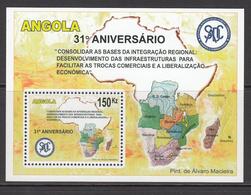 2011 Angola SADDC Maps Souvenir Sheet MNH - Angola