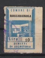 Roccarainola. Marca Municipale Diritti Di Segreteria L. 10 - Italia