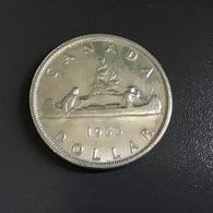 CANADA  - 1955 - 1 DOLLARO ARGENTO  CANOA / ELISABETTA II - Canada