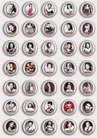 35 X The Munsters - Yvonne De Carlo Movie Film Fan ART BADGE BUTTON PIN SET 1 (1inch/25mm Diameter) - Films
