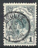 NEDERLAND NVPH 49 Kroningsgulden Met Kleinrondstempel Zwolle. Vakjesvuller - 1891-1948 (Wilhelmine)