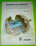 Vintage  Advertising Olivetti , Publicidade 1968. Magazine Page - Autres