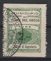 Torre Del Greco. Marca Municipale Diritti Di  Segreteria L. 2, -- - Italia