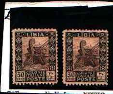 90257) LIBIA- 30 C.-Serie Pittorica, Senza Filigrana, Dentellati 11 - 1926-MNH** DENT 11 UN PEZZO - Libia