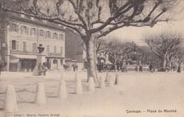 SWITZERLAND-SCHWEIZ-SUISSE-SVIZZERA-CAROUGE-LACE DU MARCHE-CARTOLINA  VIAGGIATA IL 21-12-1908 - GE Genève