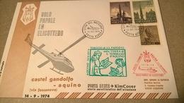 VATICANO 1974 VOLO PAPALE ELICOTTERO CASTEL GANDOLFO - AQUINO - Elicotteri