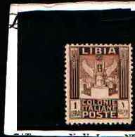 90258) LIBIA- 1 LIRA.-Serie Pittorica, Senza Filigrana, Dentellati 11 - 1926-MNH** DENT 11 UN PEZZO - Libia