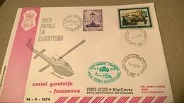 VATICANO 1974 VOLO PAPALE ELICOTTERO CASTEL GANDOLFO - FOSSANOVA - Elicotteri