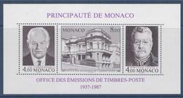 = Bloc Neuf 39 N°1591 1592 1593 Cinquantenaire OETP Office Emissions Timbres Postes Monaco Rainier III, Louis II - Blocs
