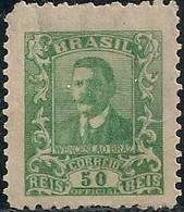 BRAZIL - OFFICIAL: WENCESLAU BRAZ (50 RÉIS, GREEN) 1919 - MH - Officials